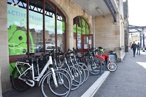 front of Stirling Active Travel Hub